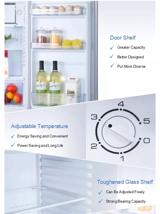 150L Single Door Direct Cooling Low Noise Mini Compact Refrigerator With Low Energy Consumption,BC-150