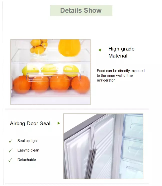 Low Noise Frost Free Refrigerator , 498L No Frost Fridge With Adjustable Front Leg and Glass Finishing Door