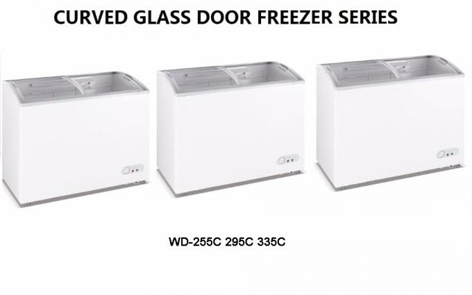 728L Commercial Display Refrigerator,Chest Freezer With Low Power Low Noise For Ice Cream,Meat,Deli,Seafood
