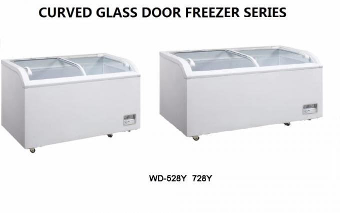 255L 4 Foot Chest Freezer , Two Doors Commercial Ice Cream Freezer