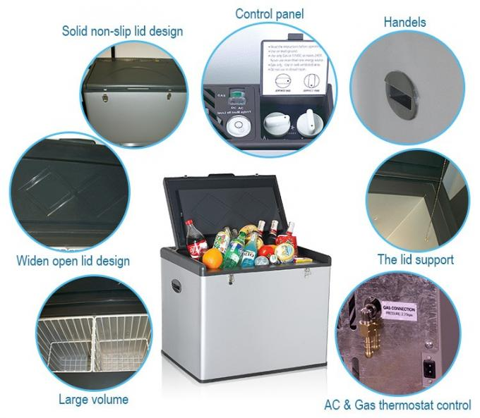 49L Manual Defrost Low Noise Low Power Direct Cooling Absorption Refrigerator 3 Way Absorption Cooling System