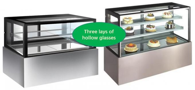 Stainless Steel Or Marble Base Flower Display Cooler , Refrigerated Pastry Display Case