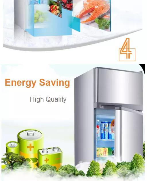 Manual Defrost Saving-energy Low Noise Direct Cool  Double Door Fridge 195L Capacity With Temperature Controller