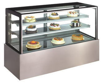 China Commercial Fan Cooling Refrigerated Cake Display Cabinets Steam For Humidification supplier