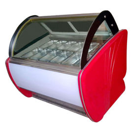 China 1500mm Back Door Ice Cream Showcase Freezer 480L Capacity Auto Defrost Type supplier