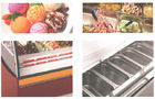 240V/50Hz Ice Cream Cake Display Freezer , Air Cooling Ice Cream Fridge with 1800mm Length