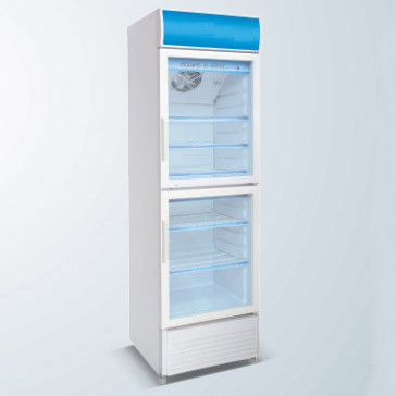 Double Door Sinlge Temperature Beverage Cooler,Display Cooler,,Commercial Refrigerator,350L
