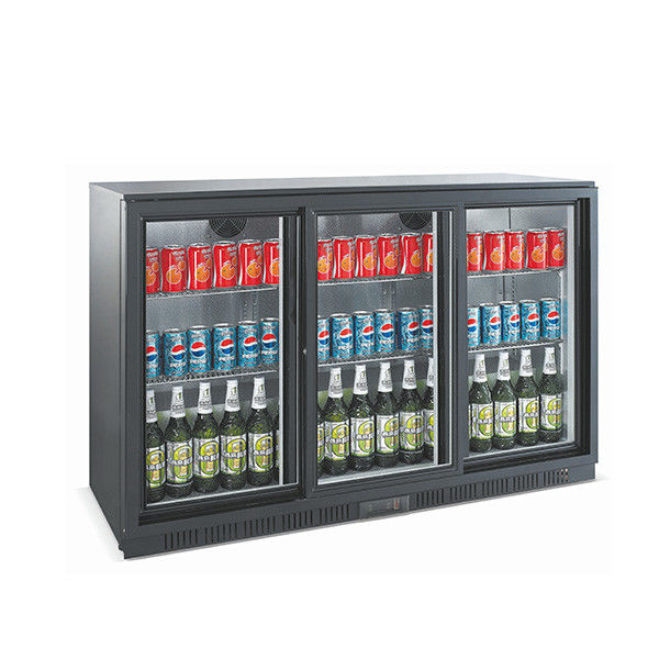 Auto Defrost Back Bar Cooler 330L Capacity With Adjustable Chromed Shelves