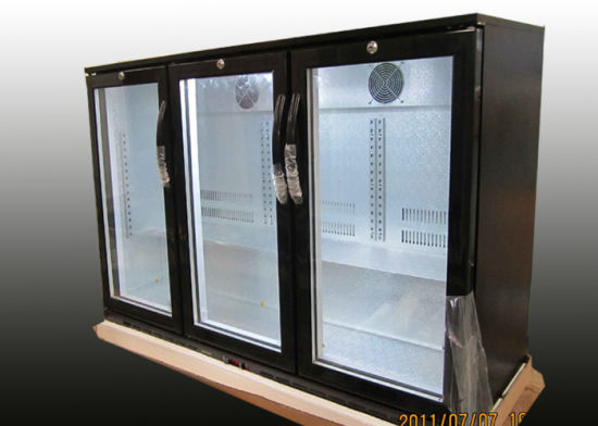Auto Defrost Commercial Back Bar Fridge , 330L 3 Door Undercounter Bar Fridge