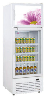 Commercial Refrigerator Beverage Cooler Front Wind System For Anti Condensation,298L Double Temperature Display Cooler