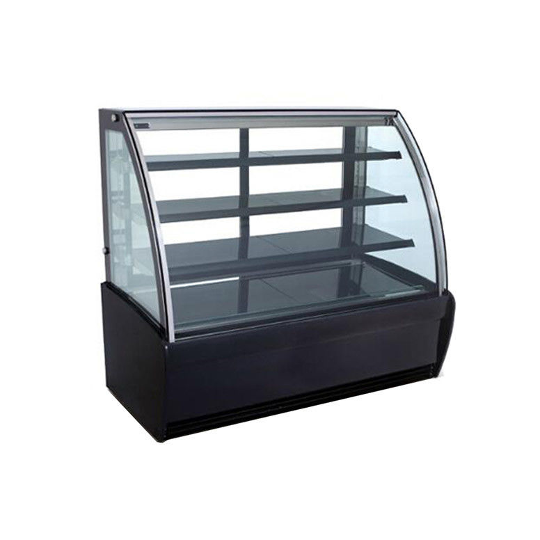 Auto Defrost Refrigerated Cake Display Cabinets 500L Capacity With Sliding Door with 1500mm Length