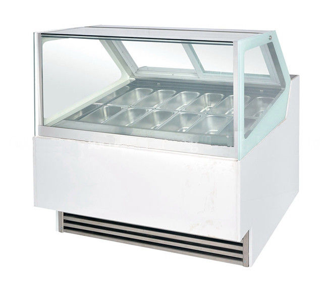 280L Automatic Defrosting Ice Cream Showcase Freezer -24℃ For Supermarket,1200mm Length