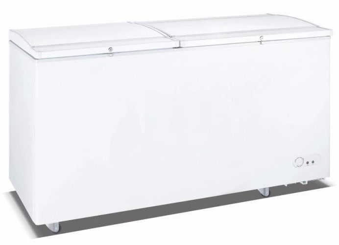 Low Power Top Open Double Solid Door Commercial Deep Freezer For Food , Meat ,Ice Cream 858L