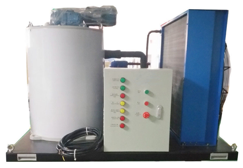 3T/24H Durable  Saltwater Flake Ice Machine With Aluminum Brass Anticorrosion Seawater Condenser