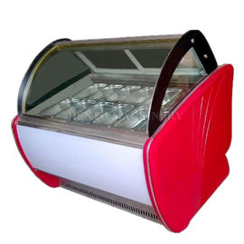 -24℃ Degree Ice Cream Showcase Freezer Intelligent Precise Temperature Control