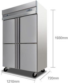 1000L Stainless Steel Commercial Kitchen Refrigerator With 4 Folding Doors