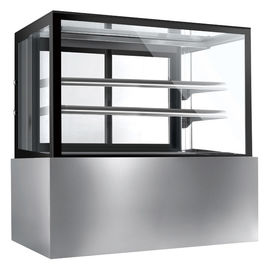 China Single Temperature Refrigerated Cake Display Cabinets Excellent Humidity Control,1200mm Length with Two Shelves distributor