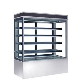 China Auto Defrost Refrigerated Cake Display Cabinets 560L Capacity For Cafes,900mm Length Four Shelves Cake Fridge distributor
