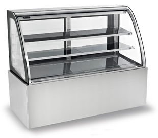 China 1800mm Two Layers Refrigerated Cake Display Cabinets With Versatile Caster Wheel distributor
