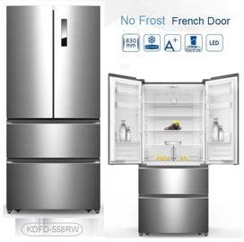 China Auto Defrost French Fridge Freezer , French Door Style Refrigerators 4 Star Rating distributor