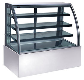 China 600L Refrigerated Cake Display Units , 220V-240V/50Hz Refrigerated Display Cabinet with 1800mm Length and Three Shelves distributor