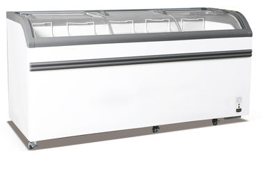 China Energy Saving Ice Cream Display Chest Freezer , 828L Curved Glass Door Deep Freezer factory